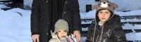 عکس لیلا حاتمی و فرزندانش در صربستان