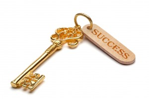 Golden key to success.